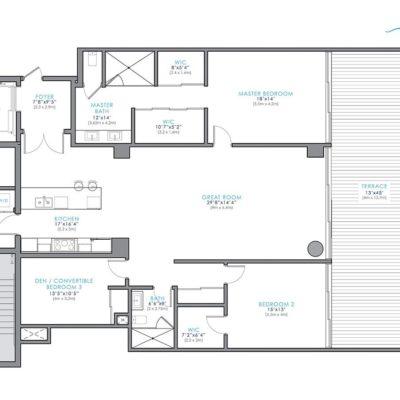 Aquablu Las Olas – 35 Waterfront Luxury Residences Floor Plans