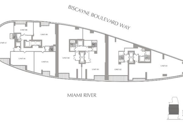floor plan of the Aston Martin Residences Miami