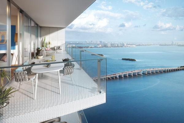 Missoni Baia Luxury Condo Tower in Edgewater neighborhood of Miami, Florida.