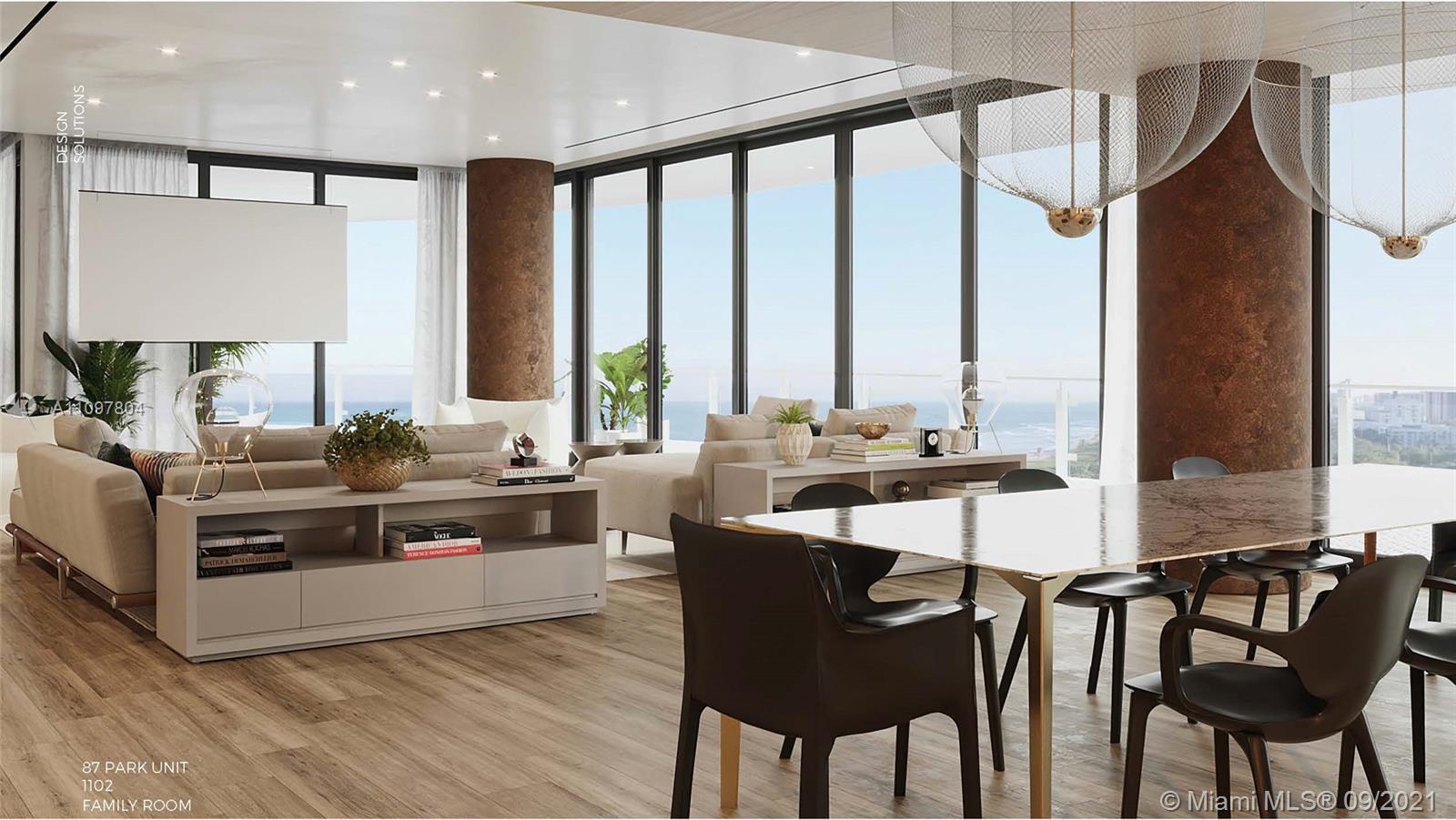 Eighty Seven Park Miami Beach Fully Customized Half Floor Residence